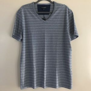 New Banana Republic Blue Double Stripe Shirt
